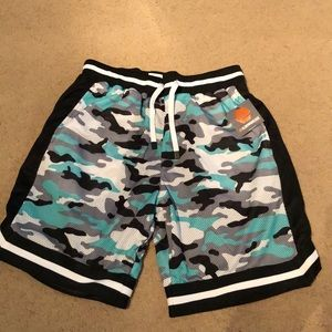 Other - Blue camo mesh shorts
